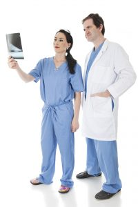 Two medical personnel